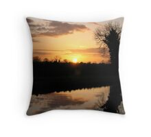 Irish Canal Sunset II Throw Pillow