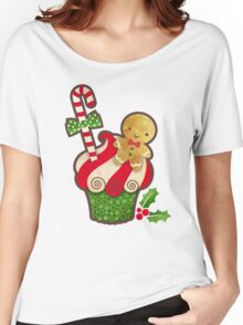 Christmas Cupcake Women's Relaxed Fit T-Shirt