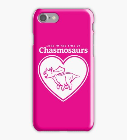 Love in the Time of Chasmosaurs logo: white iPhone Case/Skin