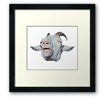 Happy Goat is Faded Framed Print