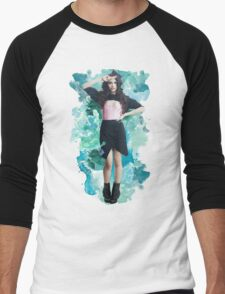 Camila Cabello Blue Splash!  Men's Baseball ¾ T-Shirt