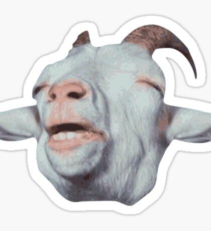 Happy Goat is Faded Sticker