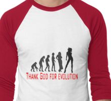 Thank God for evolution Men's Baseball ¾ T-Shirt