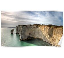Swanage sea cliffs Poster