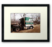 Mac Truck Framed Print