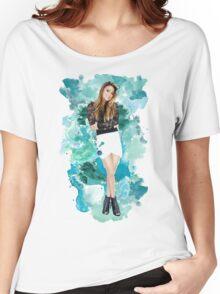 Ally Broke Blue Splash! Women's Relaxed Fit T-Shirt