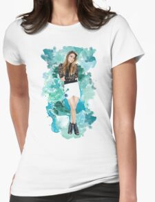 Ally Broke Blue Splash! Womens Fitted T-Shirt