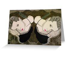 Twins Greeting Card