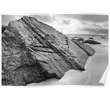 Rocks, Anchor Bay, Mendocino County, California Poster