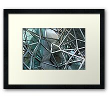 Federation Square Bared - study of the inner workings of the Atrium Framed Print