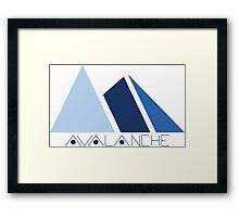 Avalanche Logo Framed Print