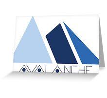 Avalanche Logo Greeting Card