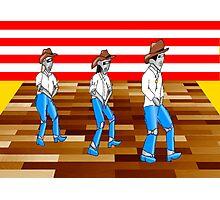 Robot line dancing Photographic Print