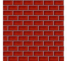 Red brick pattern Photographic Print