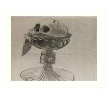 Skull of dagobert-2 in silver reliquery Art Print