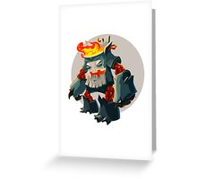 Burning Wood Man Greeting Card