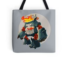 Burning Wood Man Tote Bag