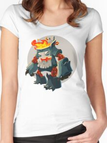 Burning Wood Man Women's Fitted Scoop T-Shirt