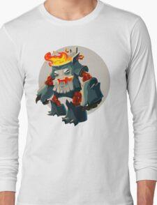 Burning Wood Man Long Sleeve T-Shirt
