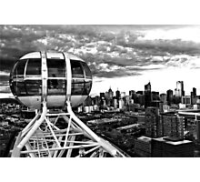 Melbourne Star View BW Photographic Print