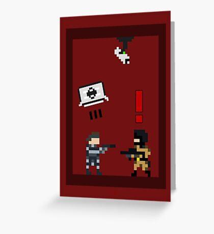 Metal Gear Solid 8-Bit Greeting Card