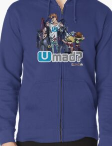 Bayonetta 2 on Wii U = U Mad? Zipped Hoodie