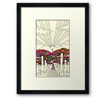 At The End Of The Road Framed Print