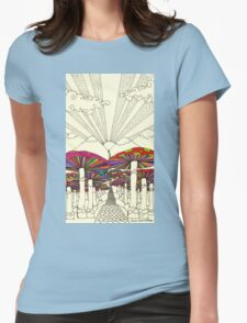 At The End Of The Road Womens Fitted T-Shirt