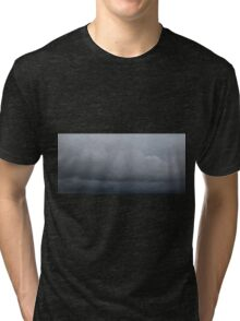 HDR Composite - Blue Gray Sky in Layers Tri-blend T-Shirt