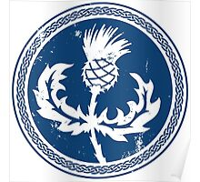 Thistle & Braid - Blue Poster
