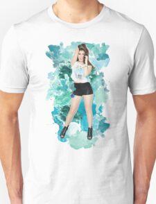 Lauren Jauregui Blue Splash!  Unisex T-Shirt