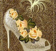 ✰* ★ GOLDEN GLITTER HIGH HEEL WITH ROSES ~♥~˚ ✰* ★ by ✿✿ Bonita ✿✿ ђєℓℓσ