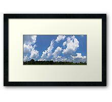 HDR Composite - Blue Sky and Clouds over Preserve Framed Print