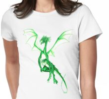 Springtime green dragon Womens Fitted T-Shirt