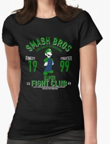 Mushroom Kingdom Fighter 2 Womens Fitted T-Shirt