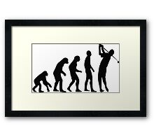 Golf evolution Framed Print