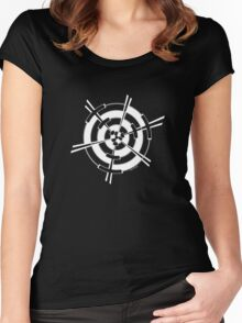 Mandala 3 Simply White Women's Fitted Scoop T-Shirt