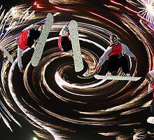 Swirling Snowboarder by Judson Joyce