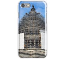 The Capitol Dome Dressed In Scaffolding iPhone Case/Skin