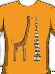 Who is Taller Unicorn Giraffe or Penguin? T-Shirt