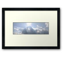 HDR Composite - Bright Sky and Clouds with Cell Towers Framed Print