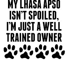 Well Trained Lhasa Apso Owner by kwg2200