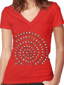 Penguin Fibonacci Women's Fitted V-Neck T-Shirt
