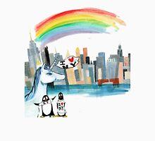 Unicorn and Penguins go to NYC Unisex T-Shirt