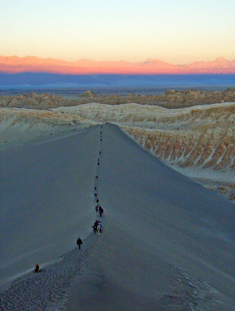 Last light over Chile by Elaine Stevenson