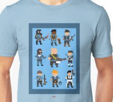 Team Fortress 2 8-Bit Blu Team Unisex T-Shirt