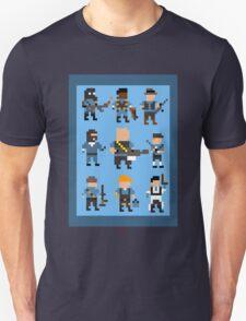 Team Fortress 2 8-Bit Blu Team T-Shirt