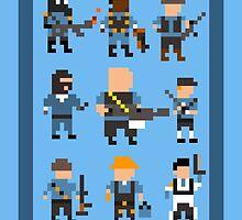Team Fortress 2 8-Bit Blu Team by TheWangMeister