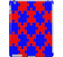 Red and Blue Puzzle iPad Case/Skin