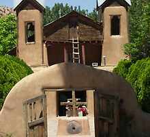 Adobe Church at Chimayo,NM by David DeWitt
